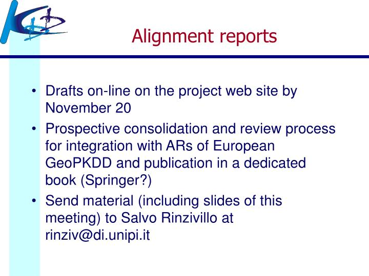 Alignment reports