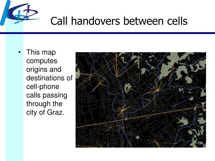 Call handovers between cells