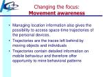 changing the focus movement awareness