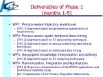 deliverables of phase 1 months 1 5