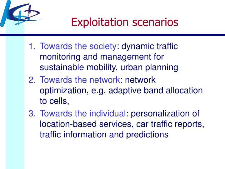 Exploitation scenarios