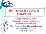 fet project ist 014915 geopkdd