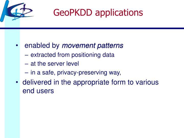 GeoPKDD applications