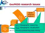 geopkdd research issues