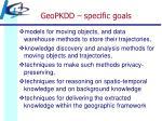 geopkdd specific goals