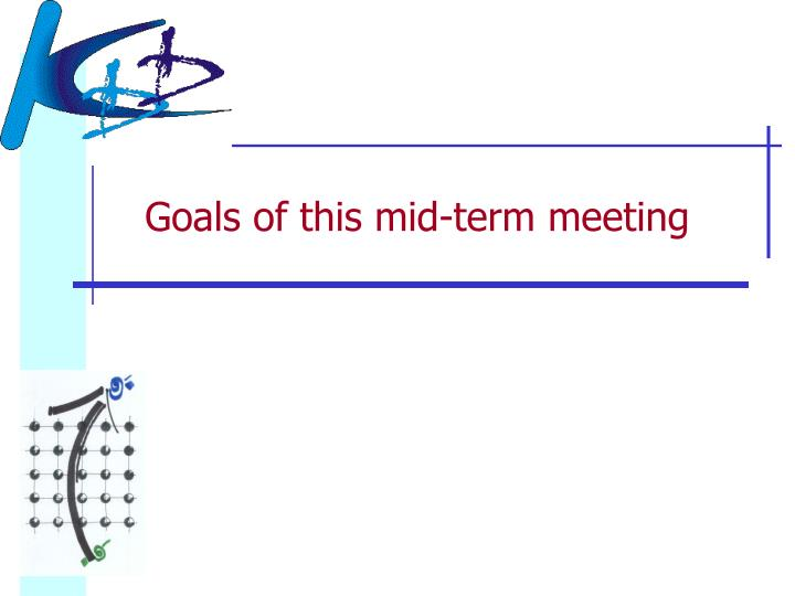Goals of this mid-term meeting