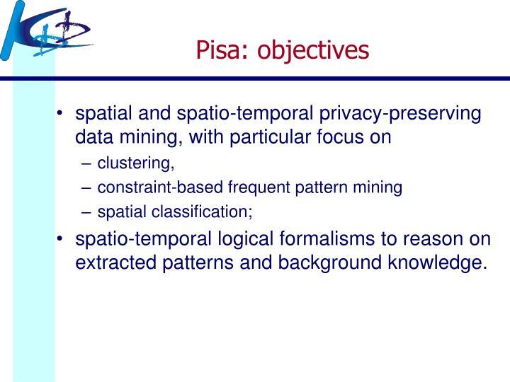 Pisa: objectives