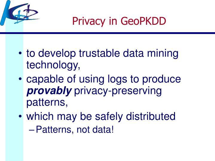 Privacy in GeoPKDD