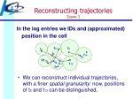 reconstructing trajectories scene 3