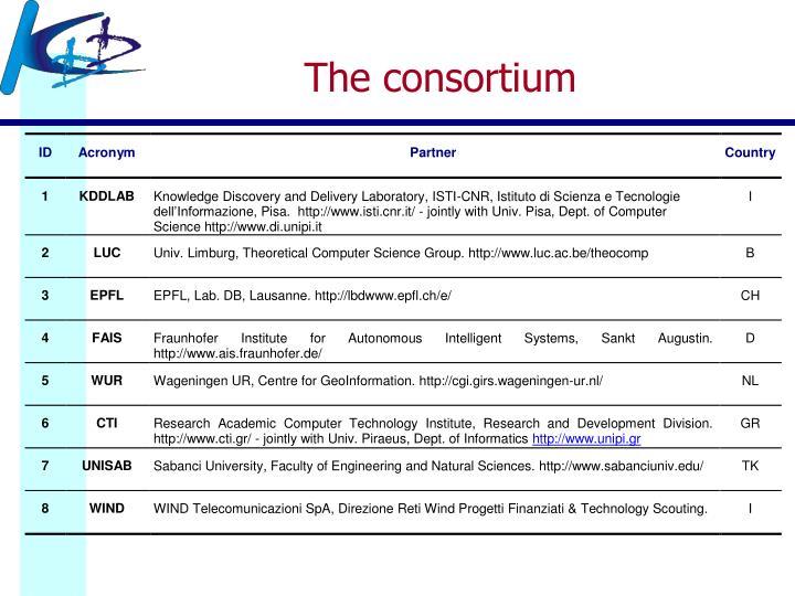 The consortium