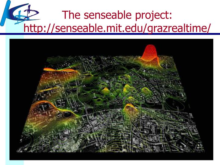 The senseable project: http://senseable.mit.edu/grazrealtime/