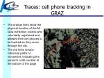 traces cell phone tracking in graz