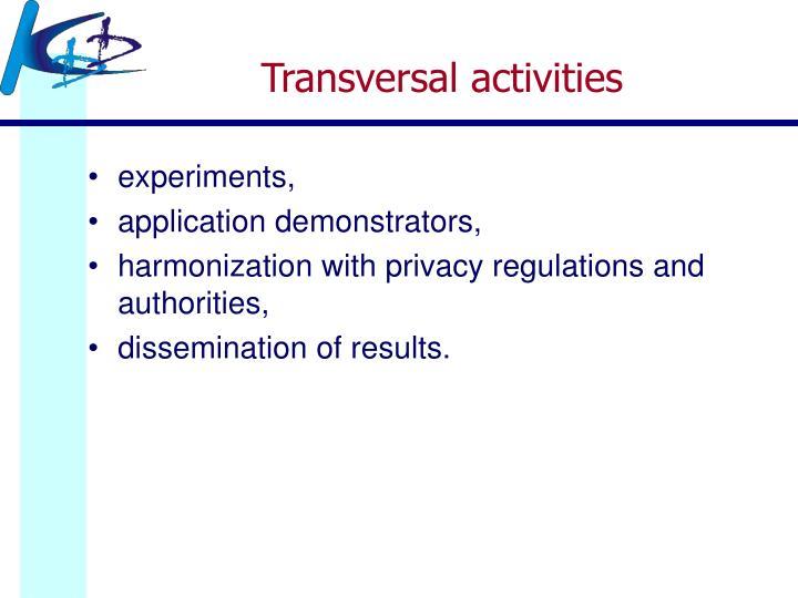 Transversal activities