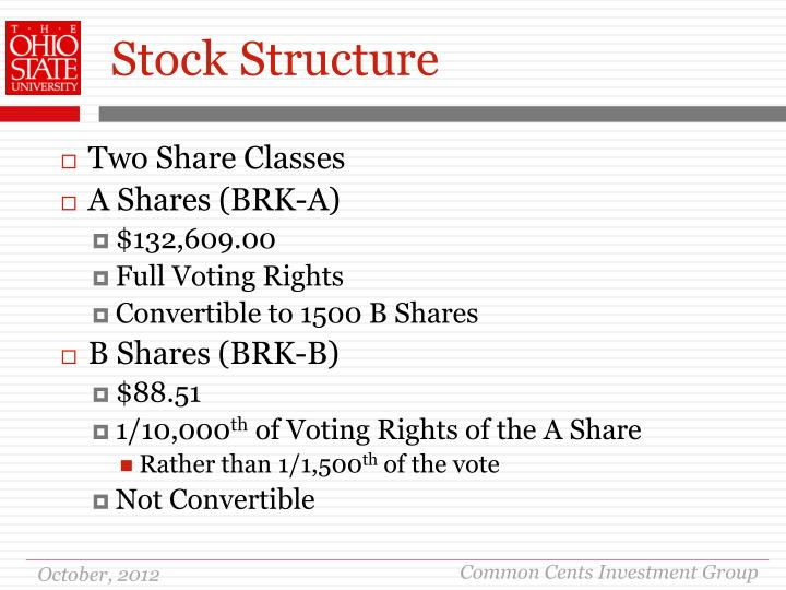 Stock Structure