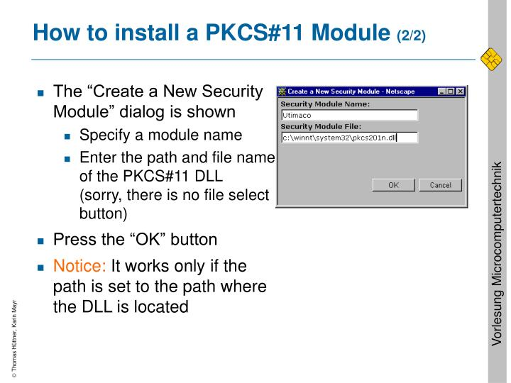How to install a PKCS#11 Module
