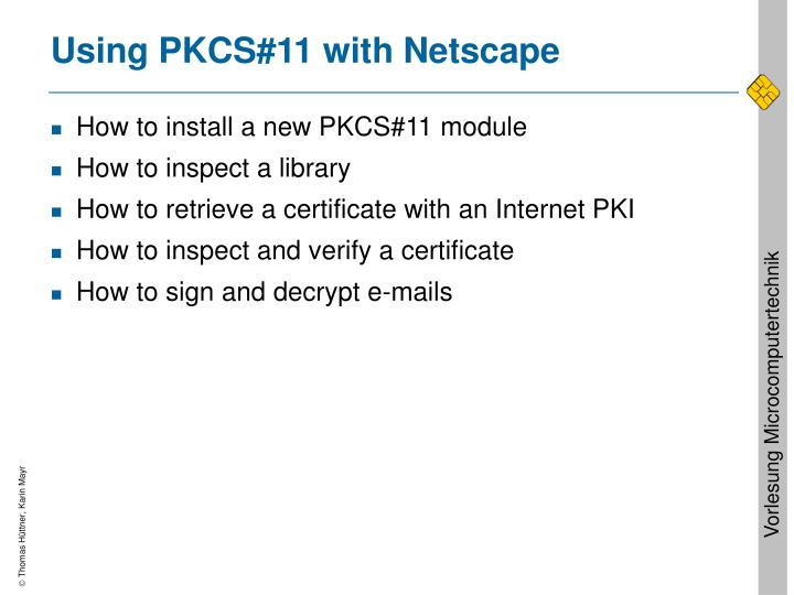 Using PKCS#11 with Netscape