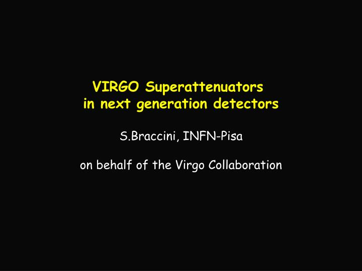 VIRGO Superattenuators