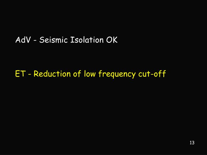 AdV - Seismic Isolation OK