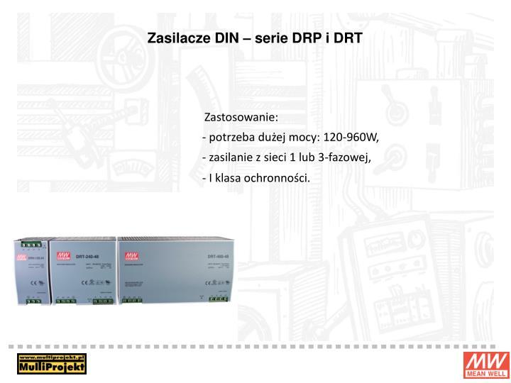 Zasilacze DIN – serie DRP i DRT