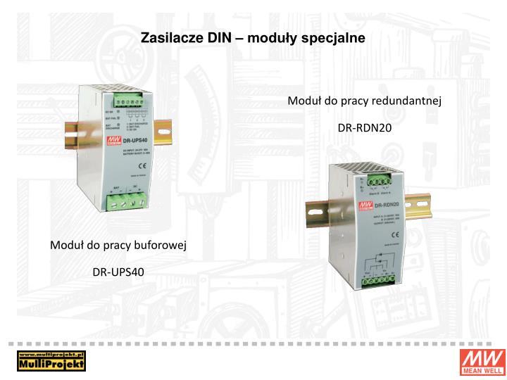 Zasilacze DIN – moduły specjalne