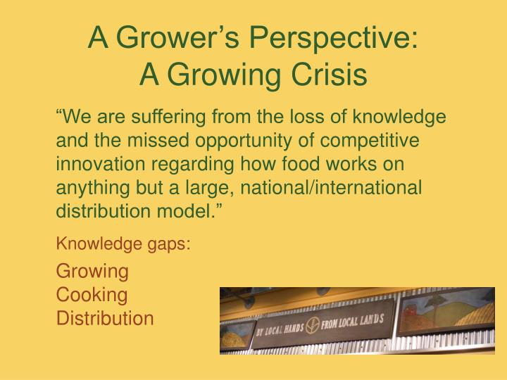 A Grower's Perspective: