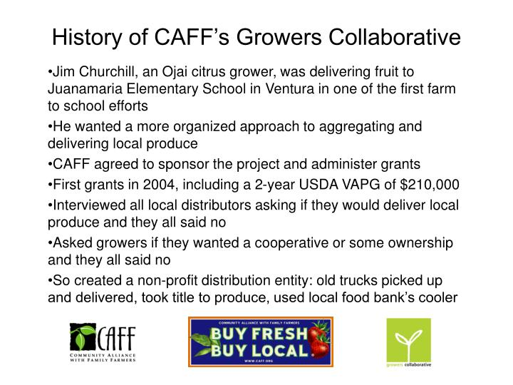 History of CAFF's Growers Collaborative