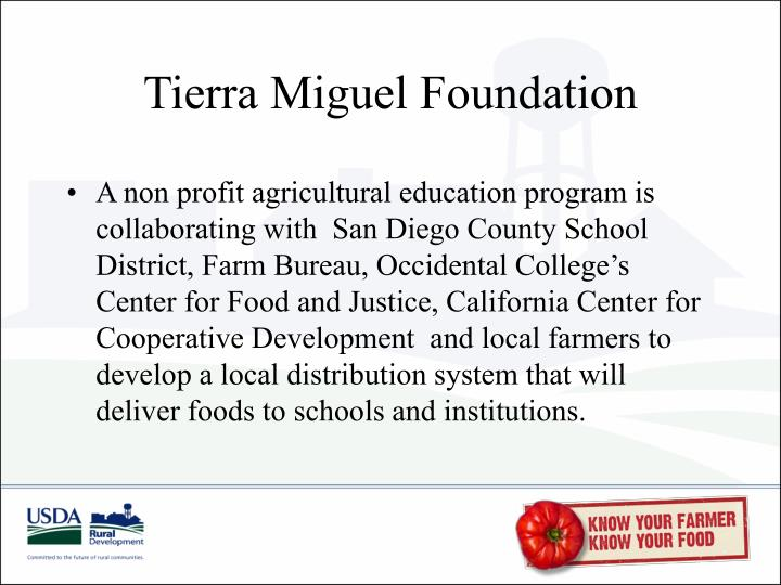 Tierra Miguel Foundation