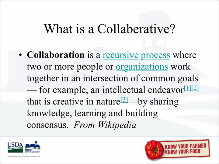 What is a collaberative