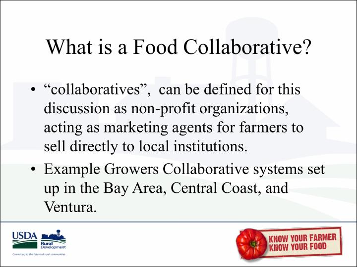 What is a Food Collaborative?