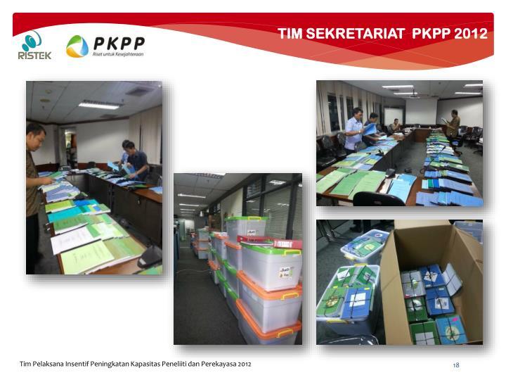 TIM SEKRETARIAT  PKPP 2012