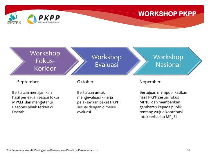 WORKSHOP PKPP