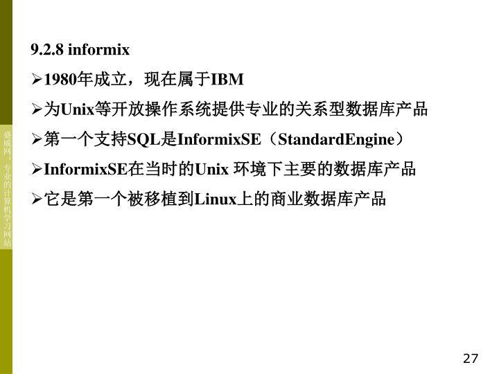 9.2.8 informix