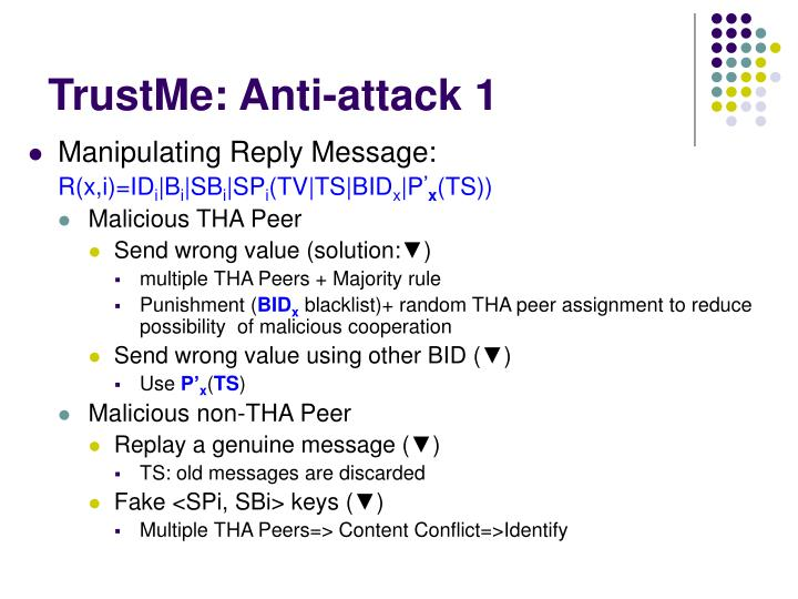 TrustMe: Anti-attack 1