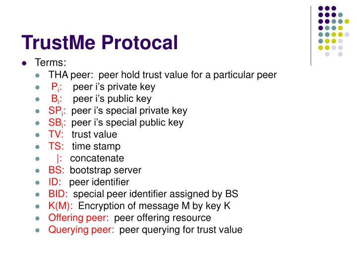 TrustMe Protocal