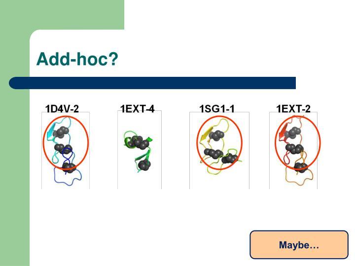 Add-hoc?