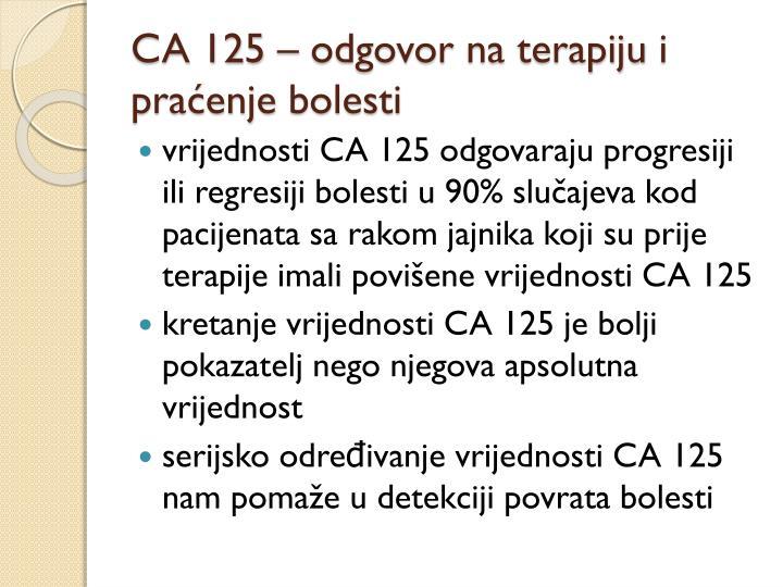 CA 125 –