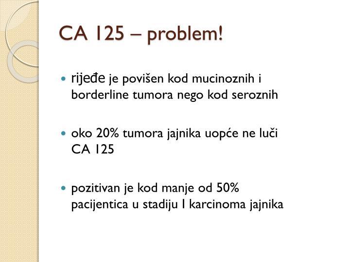 CA 125 – problem!