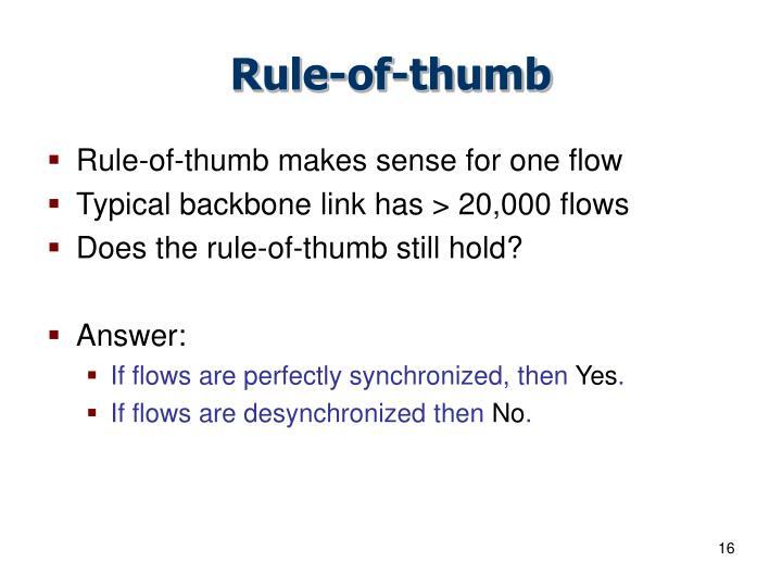 Rule-of-thumb