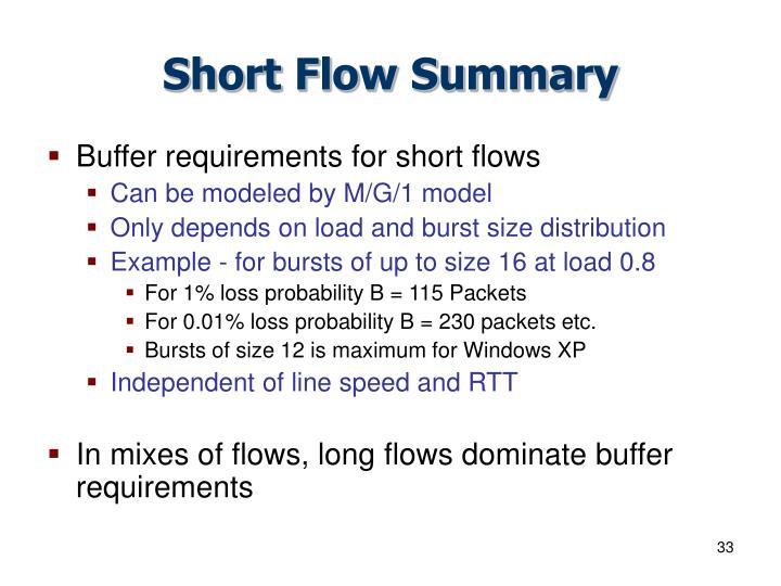 Short Flow Summary
