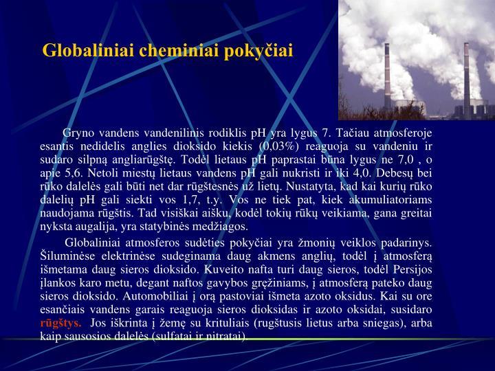 Globaliniai cheminiai pokyčiai