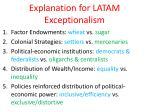 explanation for latam exceptionalism