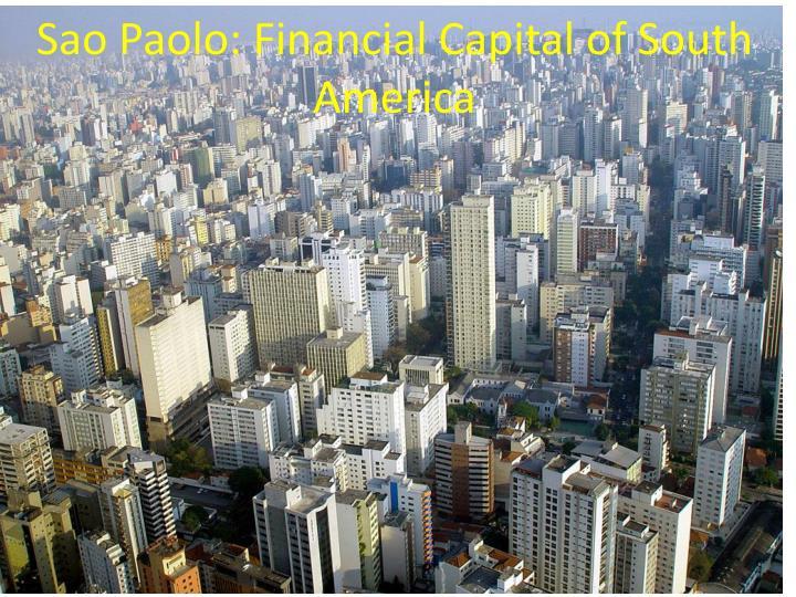 Sao Paolo: Financial Capital of South America
