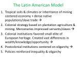 the latin american model