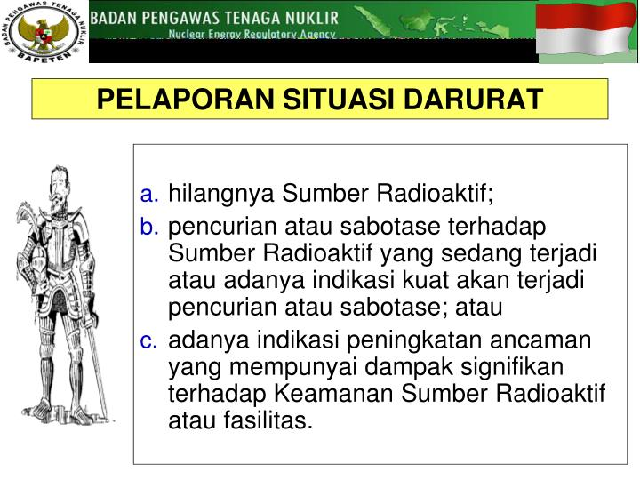 hilangnya Sumber Radioaktif;