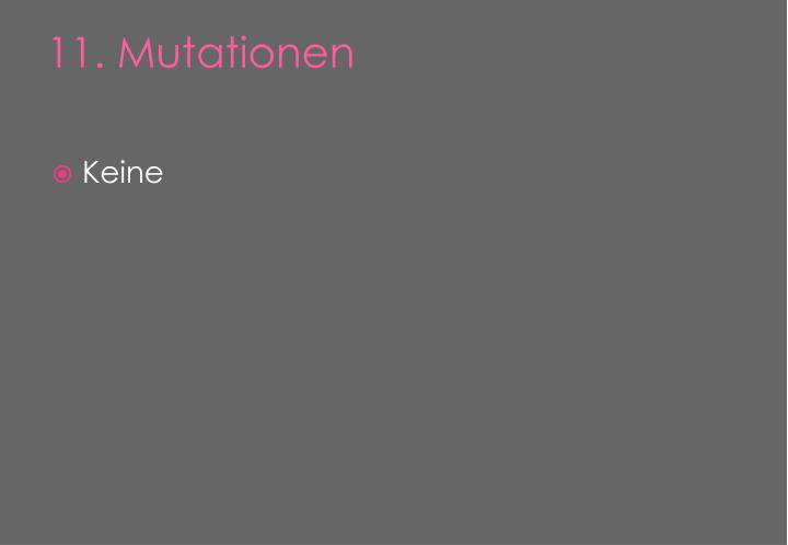 11. Mutationen