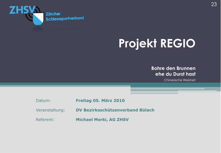 Projekt REGIO