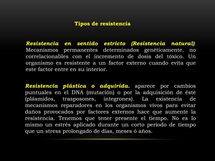 Tipos de resistencia