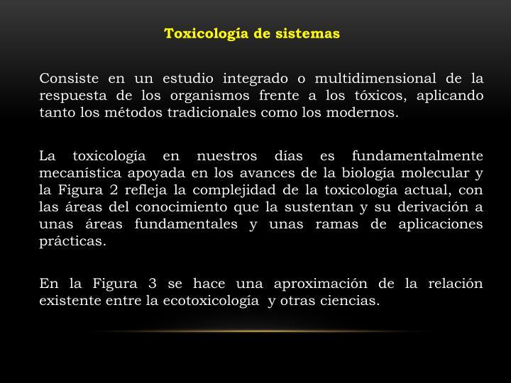 Toxicología de sistemas