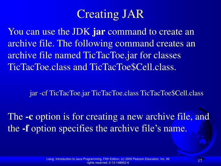 Creating JAR