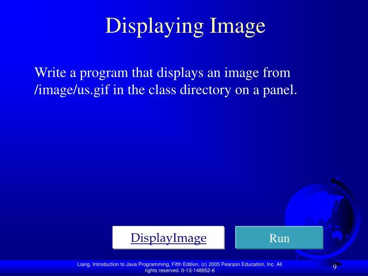 Displaying Image